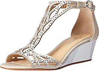 Imagine Vince Camuto Womens Jalen Wedge Sandal, Pure White, 7 Medium US