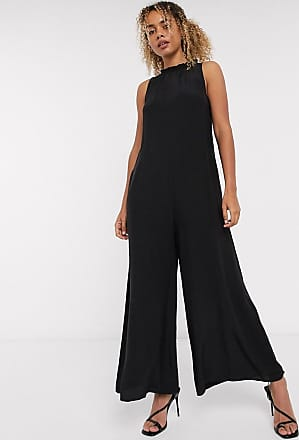 & Other Stories high neck romper jumpsuit in black