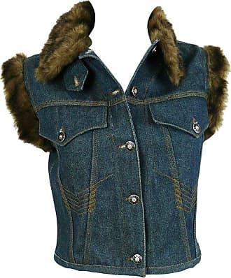 6c55df9ed8f23 Jean Paul Gaultier Vintage Denim Faux Fur Sleeveless Jacket Size S
