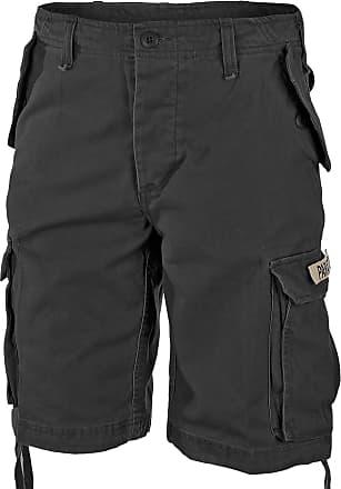 Mil-Tec Paratrooper Shorts Prewash schwarz, Größe 3XL