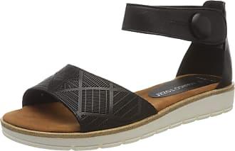 Marco Tozzi Womens 2-2-28118-24 Ankle Strap Sandals, Black Antic 002 Black, 6.5 UK