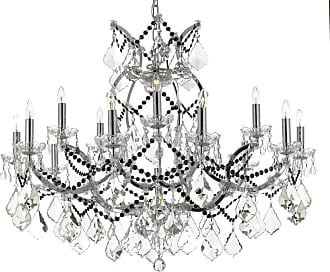 Gallery T22-2289 16 Light 37 Wide Crystal Chandelier with Black