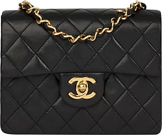 a1d0a980e0a60 Chanel 1991 Chanel Black Quilted Lambskin Vintage Mini Flap Bag