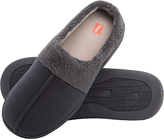 Hanes Mens Memory Foam Indoor Outdoor Clog Slipper Shoe with Fresh Iq Navy/Grey Size: Medium