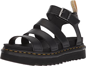 Dr. Martens Womens V Blaire Ankle Strap Sandals, Black (Black Felix Rub Off and Black Soft Pu 001), 6.5 UK (40 EU)