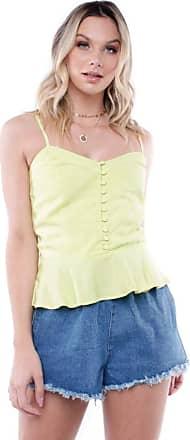 Pop Me Blusa Alça Botões Pop Me-amarelo-gg