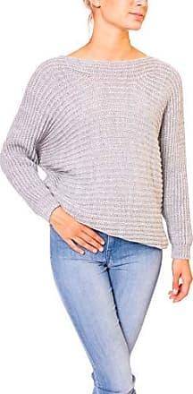 Only Damen Feinstrick Pullover mit Fledermausärmeln Oversize Strick Sweater