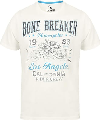 Mens T-Shirt South Shore Short Sleeved Print T-shirt Cotton Tee Top BONE BREAKER