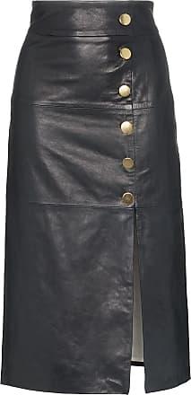1b72f93fbedbc Skiim lucy button detail leather skirt - Azul
