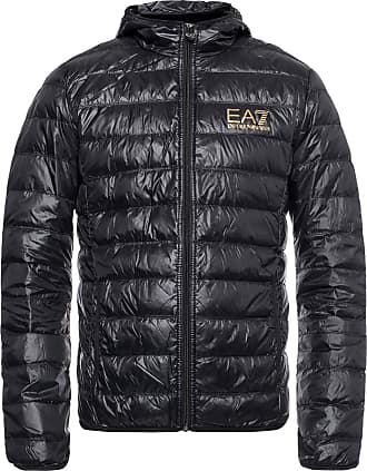 Emporio Armani Hooded Quilted Down Jacket Mens Black