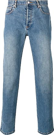 A.P.C. washed effect straight leg jeans - Blue
