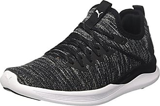 008a333826 Puma Ignite Flash Evoknit Wns, Chaussures de Running Femme, Noir  Black-Asphalt White
