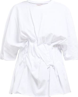 Natasha Zinko Gathered-front Cotton T-shirt - Womens - White