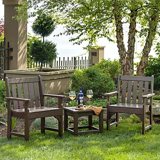 POLYWOOD Outdoor POLYWOOD Vineyard Recycled Plastic 3 pc. Garden Chair Set Mahogany - PWS142-1-MA