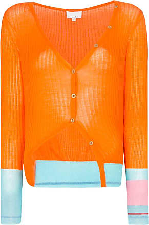 I-am-chen contrast-cuff cardigan - Laranja