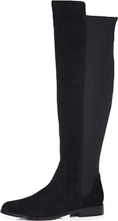 Clarks Daina Rae Over The Knee Leather Boots (4 UK, Black Suede)