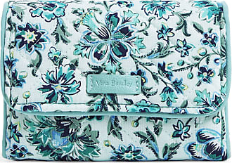 Vera Bradley Womens Iconic Signature Cotton RFID Riley Compact Wallet, Cloud Vine, One Size