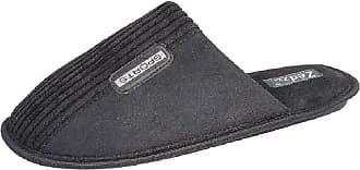 Zedzzz Joe Mens Mule Slippers Black UK 9