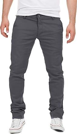 Yazubi Mens Trousers Chinos Pants Dustin Tall Skinny Slim Fit Iron Light Silver, Grey (Magnet 4R193901), W33/L38