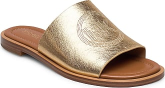 Michael Kors Leandra Slide Shoes Summer Shoes Flat Sandals Guld Michael Kors Shoes