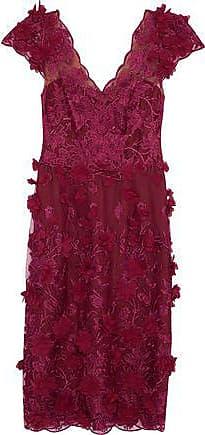 adf40013fb Marchesa Marchesa Notte Woman Floral-appliquéd Embroidered Tulle Dress  Grape Size 10