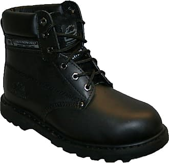 Groundwork Ladies SK21 Leather Uppers Smart/Casual LACE UP Steel Toe Cap Safety Boot Black