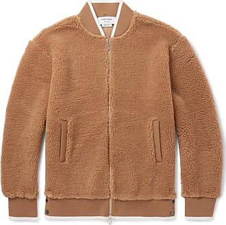 Thom Browne Camel Hair And Silk-blend Bomber Jacket - Tan