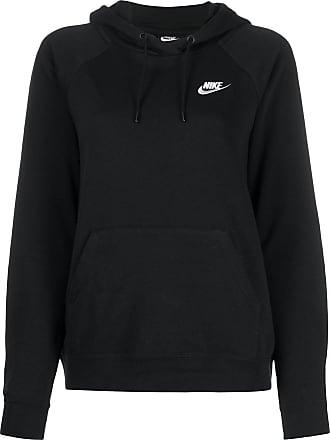Nike Kapuzenpullover mit Logo - Schwarz