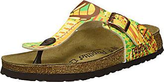 00b6c7c8ab82fa Papillio Damen Gizeh Birko-Flor Zehentrenner Mehrfarbig (African Wax Gold) 35  EU