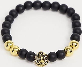 7X SVNX lion head bead bracelet-Gold