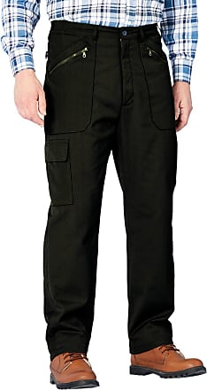 Chums Mens Fully Lined Thermal Stretch Waist Action Trouser Pants Black 34W / 31L