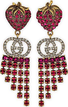 Gucci Erdbeer-Ohrringe mit Kristallen