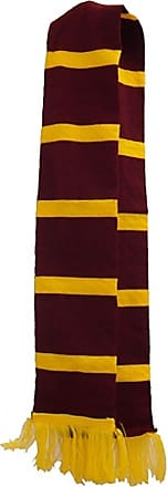 21Fashion Adults Maroon Yellow Stripe Neck Scarf Unisex Stag Party Fancy Dress Accessory