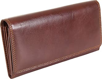 Visconti Womens Large Leather Veg Tan Brown Purse MZ10