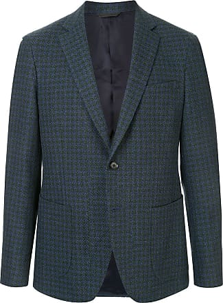 Durban single-breasted woven blazer - Blue