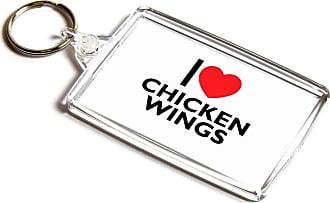 ILoveGifts KEYRING - I Love Chicken Wings - Novelty Food & Drink Gift