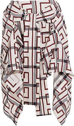 f7db963fd1 Infinity Wrap-effect Asymmetric Tartan Organic Linen Mini Skirt - Black.  Delivery: free. Vivienne Westwood Vivienne Westwood Anglomania Woman Hope  ...