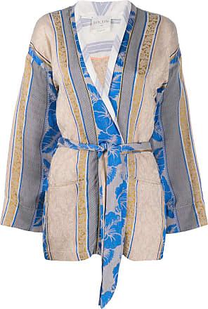 Forte_Forte panelled pattern tie waist jacket - Neutrals