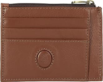 891247b11e1 Nuvola Pelle Portefeuille Porte-cartes de crédit Fin en Cuir Véritable avec  fermeture éclair Porte