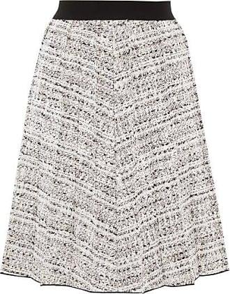 Giambattista Valli High-rise Bouclé Skirt - Womens - White Black
