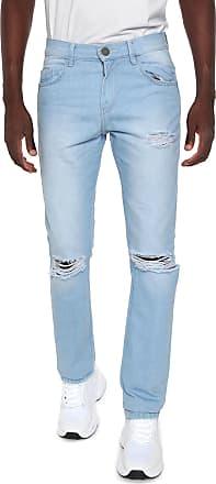Doc Dog Calça Jeans Doc Dog Reta Destroyed Azul