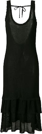 OLYMPIAH Vestido midi Sable - Preto