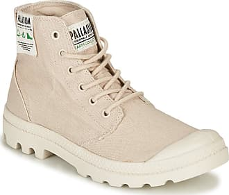 Palladium Pampa HI Organic Ankle Boots/Boots Women Beige - UK:3.5 - Mid Boots