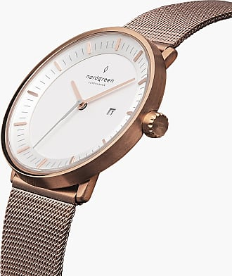 Nordgreen Philosopher - Rose Gold | Rose Gold Mesh - 36mm / Rose Gold