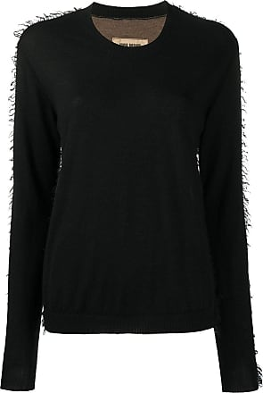Uma Wang contrast-panel cashmere jumper - Black