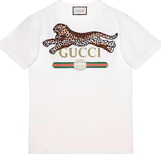Gucci T-shirt oversize con logo Gucci e leopardo 063fb32d3c96