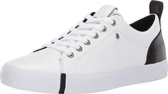 A|X Armani Exchange Womens Leather Low Top Sneaker, White/Black, 35M Medium EU (5 US)