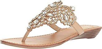 Yellow Box Womens P-Amee Heeled Sandal, Natural, 8 Medium US