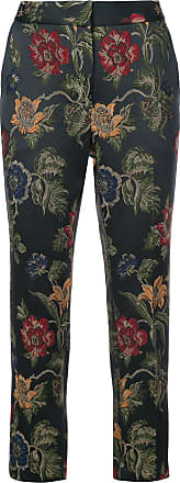 Rosetta Getty floral embroidered tailored trousers - Preto