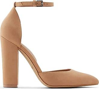Aldo Womens Dress Shoes with Block Heels, Nicholes in Beige, Size 7 Pump, 7